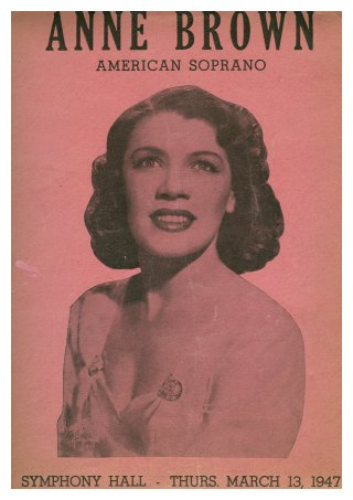 Anne Brown, American Soprano--Symphony Hall, Thurs, March 13, 1947