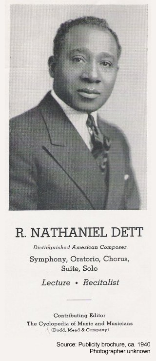 R. Nathaniel Dett--Distinguished American Composer