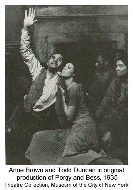 Anne Brown and Todd Duncan in original production of Porgy and Bess, 1935