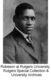 Paul Robeson at Rutgers University. Rutgers Special Collection & University Archives