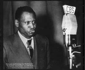 Paul Robeson in performance